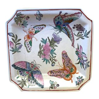 Vintage Chinoiserie Butterfly Trinket Dish, Catchall For Sale