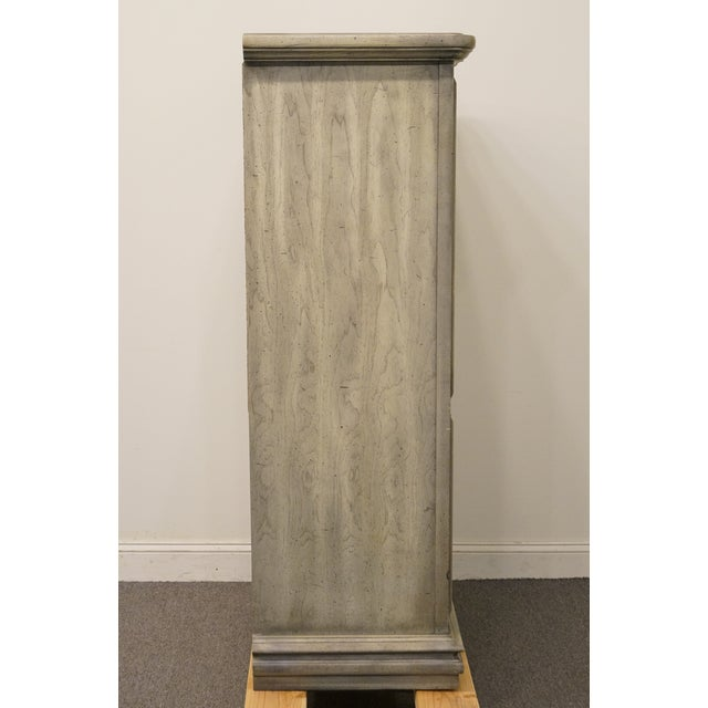 """Stanley Furniture Italian Provincial Green Tint Finish 43"""" Door Chest / Armoire For Sale - Image 12 of 13"""