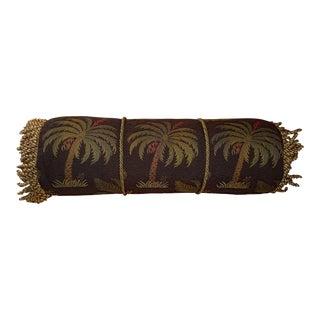 Palm Tree Designer Bolster Pillow For Sale
