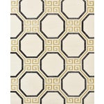Sample - Schumacher Octavia Sisal Wallpaper in Gold & Jet