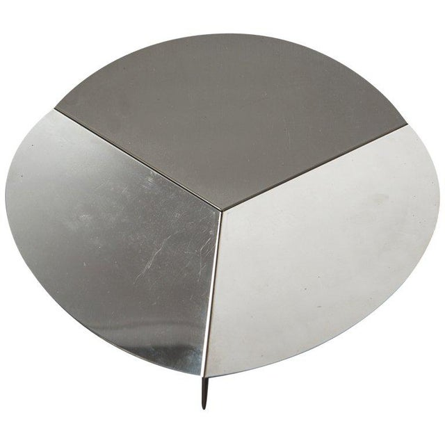 Silver Steel Centerpiece by Grignani for Luci For Sale - Image 8 of 8