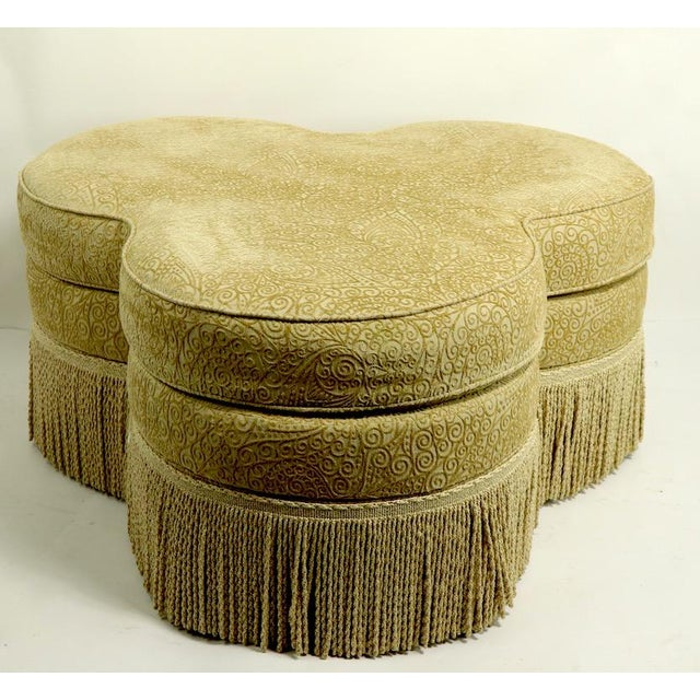 2010s Fringed Cloverleaf Ottoman by Hickory Furniture For Sale - Image 5 of 12