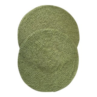 Vintage Avocado Green Placemats - A Pair