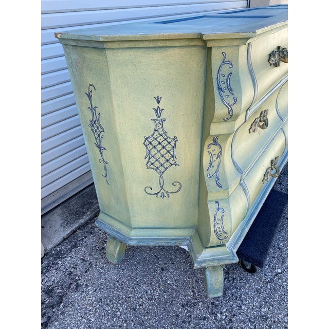 Maslow Freen New York Design Marble Top Dresser & Mirror For Sale - Image 9 of 13