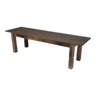 Antique French Rustic or Industrial Work Table For Sale