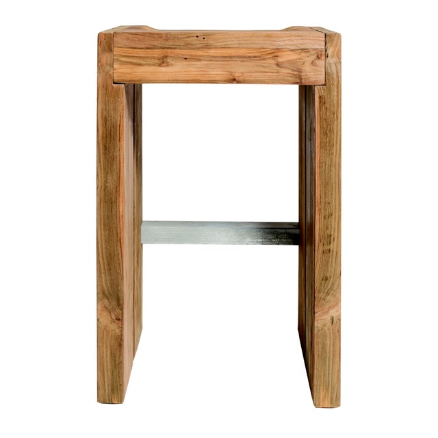 The Perpetual Solo Reclaimed Teak Bar Height Stools with Galvanized Iron Footrest are the beautifully-designed constant in...