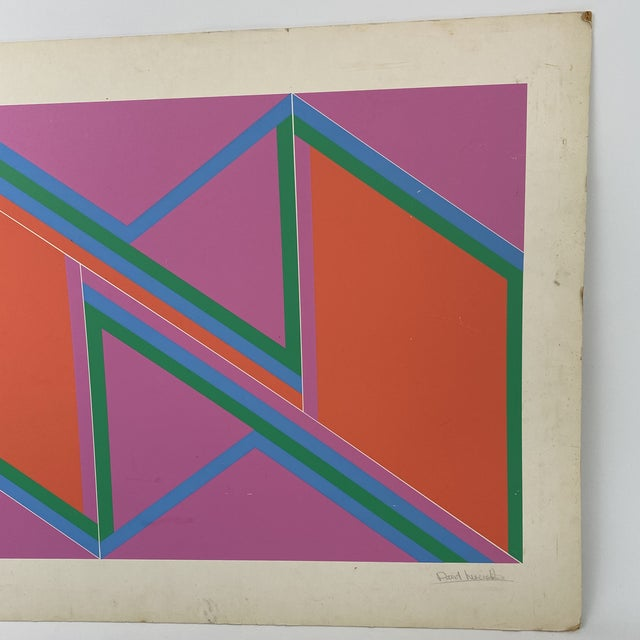 """1970s 1970s David Leverett Signed and Numbered """"Untitled"""" Serigraph Unframed For Sale - Image 5 of 13"""