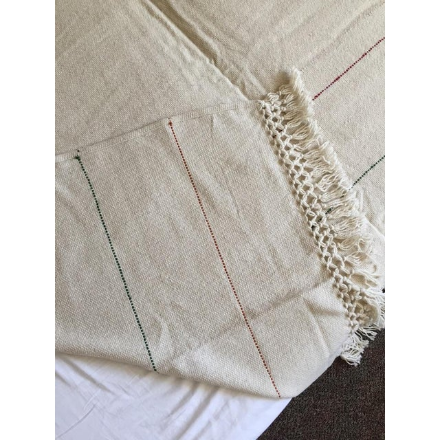Natural Merino Wool Drapes/Bed Covers – A Pair For Sale - Image 5 of 7