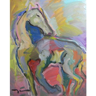 Jose Trujillo Abstract Fauvism Expressionism Horse Oil Painting For Sale