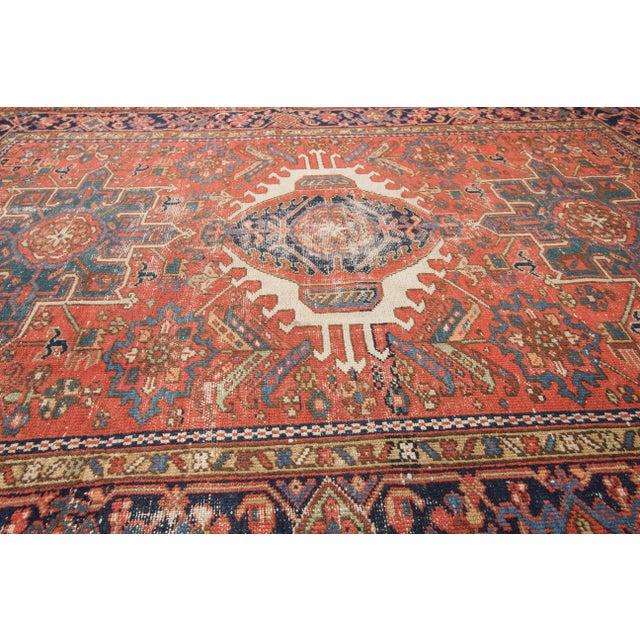 """Antique Heriz Wool Rug- 4'6"""" x 6'3"""" - Image 6 of 7"""