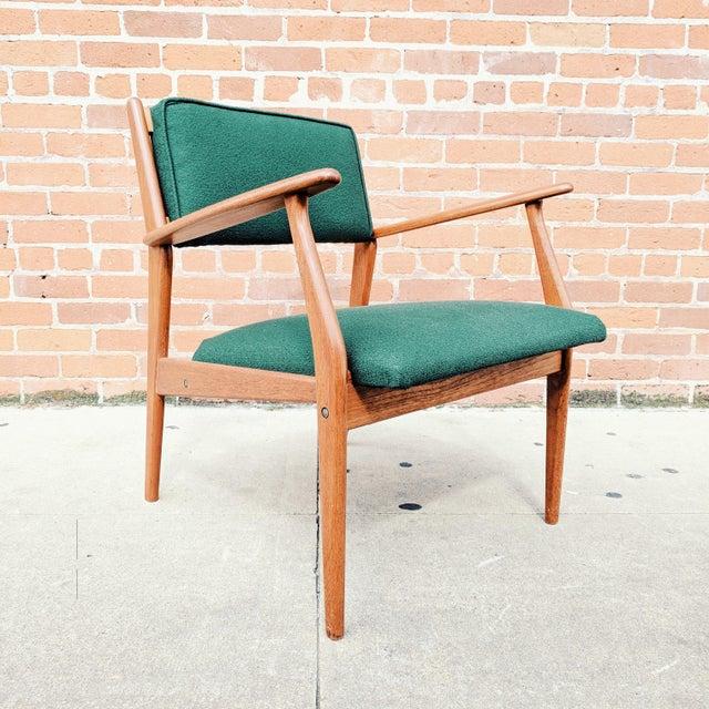 Vintage Mid Century Danish Modern Teak Lounge Chair For Sale - Image 11 of 11