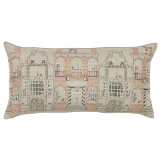 Americana Home for the Holidays Lumbar Pillow For Sale