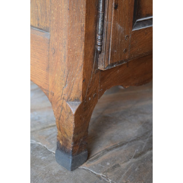 Brown 18th Century Antique French Provincial Oak Buffet For Sale - Image 8 of 9