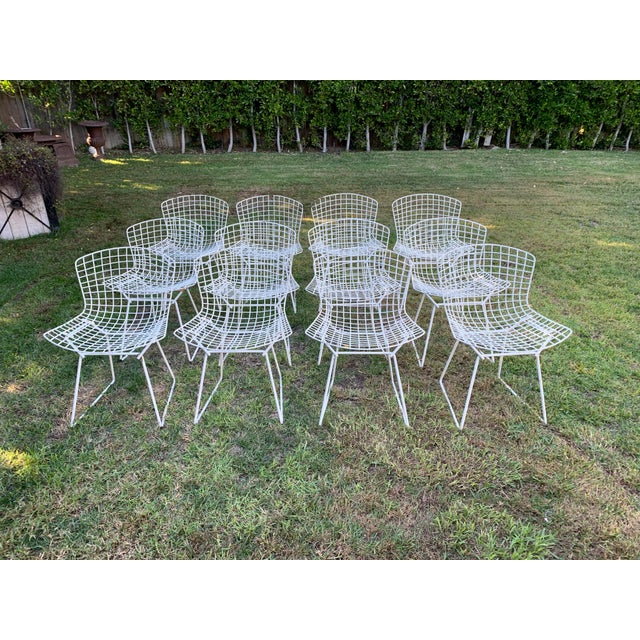 Late 20th Century Bertoia Outdoor Side Chairs- Set of 12 For Sale - Image 9 of 9