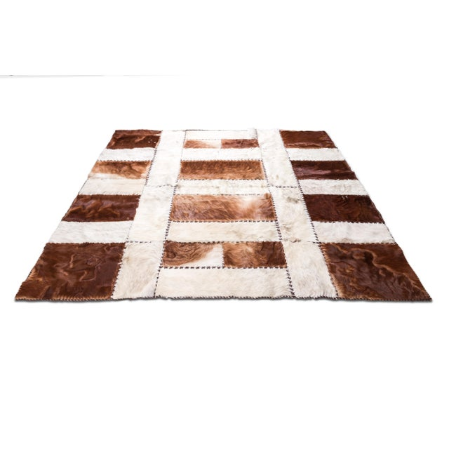 """Aydin Cowhide Patchwork Accent Area Rug - 6'0"""" x 6'7"""" - Image 3 of 9"""
