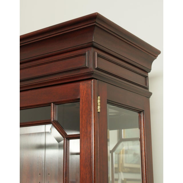 Henkel Harris Large Chippendale Style Mahogany Beveled Glass Breakfront China Cabinet #2382 For Sale - Image 11 of 12