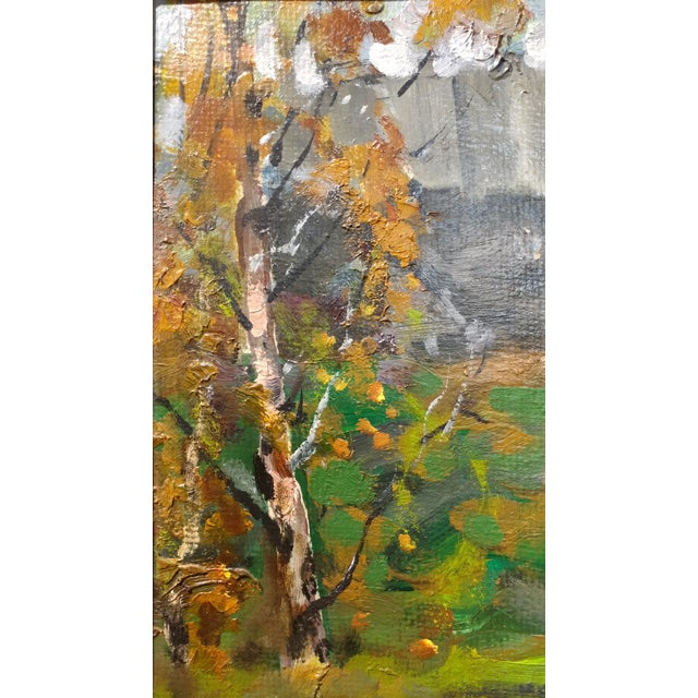"""Alex Eremin """"Autumn Day at the Marina""""- Landscape Oil Painting For Sale - Image 5 of 11"""