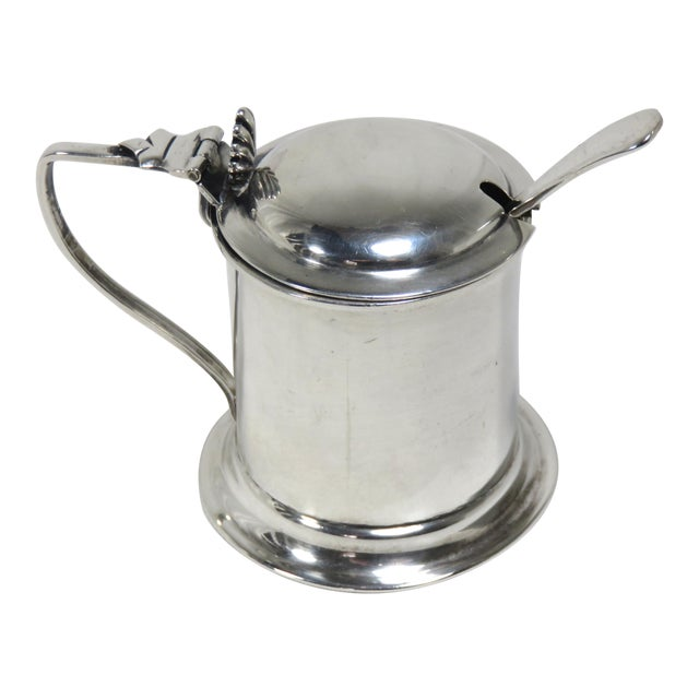 1900s Victorian Sterling Silver Mustard Pot For Sale