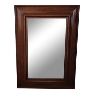 Pottery Barn Cherrywood Beveled Wall Mirror
