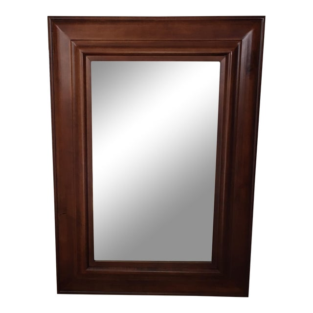 Pottery Barn Cherrywood Beveled Wall Mirror - Image 1 of 6