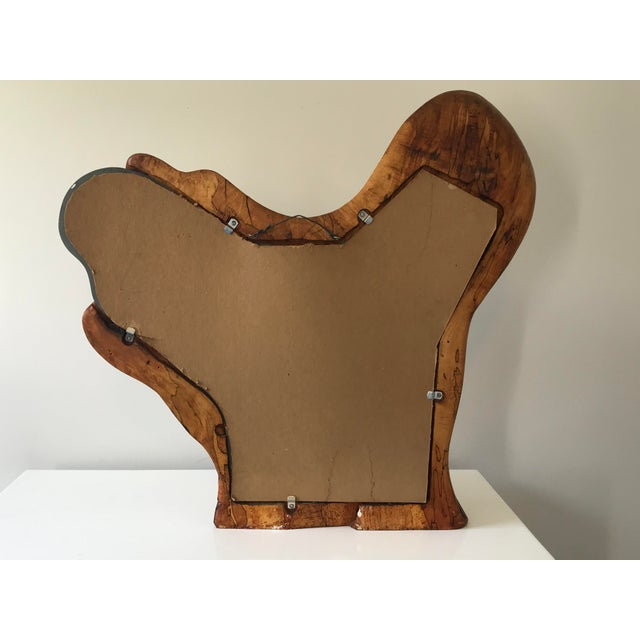 Wood Biomorphic Studio-Craft Free-Form Wall Mirror For Sale - Image 7 of 11