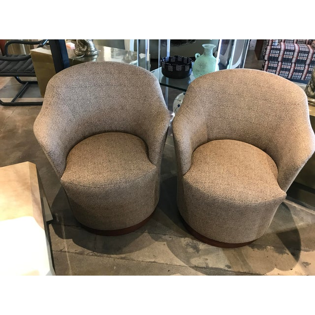 J. Robert Scott Swivel Chairs- A Pair For Sale - Image 9 of 9