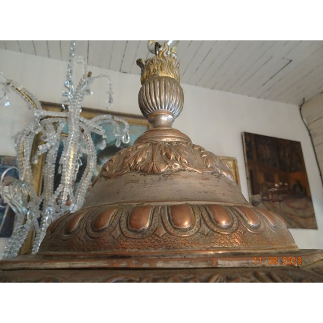 Antique Vintage French Cherub Lantern For Sale In New Orleans - Image 6 of 9