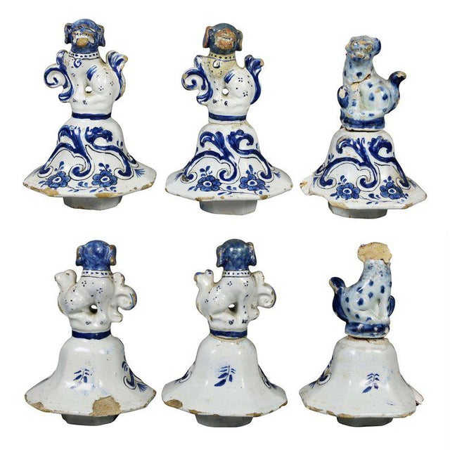 Ceramic Delft Five-Piece Blue and White Pottery Garniture For Sale - Image 7 of 11