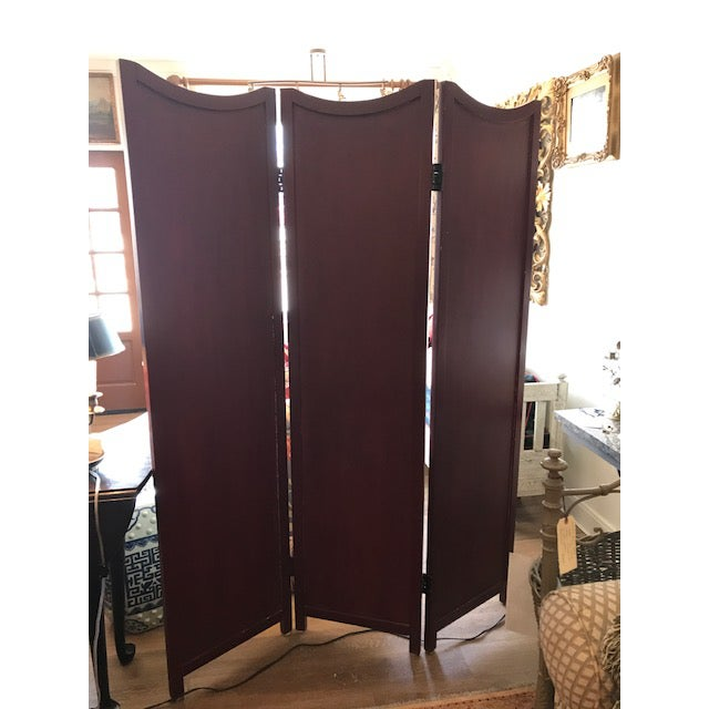 1960s Asian 3-Panel Screen For Sale - Image 4 of 11