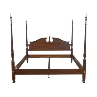 Harden Solid Cherry Kind Size Poster Bed For Sale