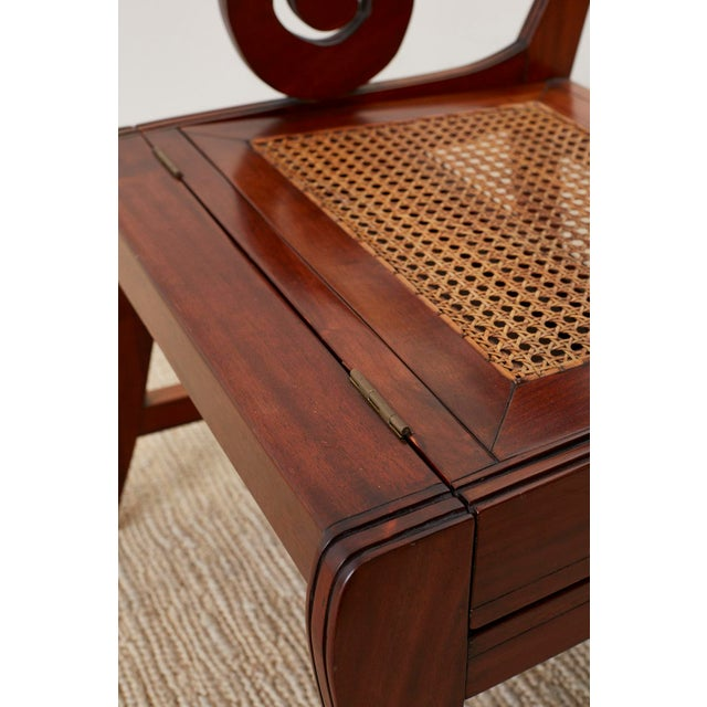 Wood English Regency Style Mahogany Metamorphic Library Step Chair For Sale - Image 7 of 13