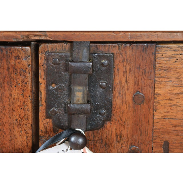 Late 1800's Rustic 2 Piece Italian Cabinet For Sale - Image 11 of 13