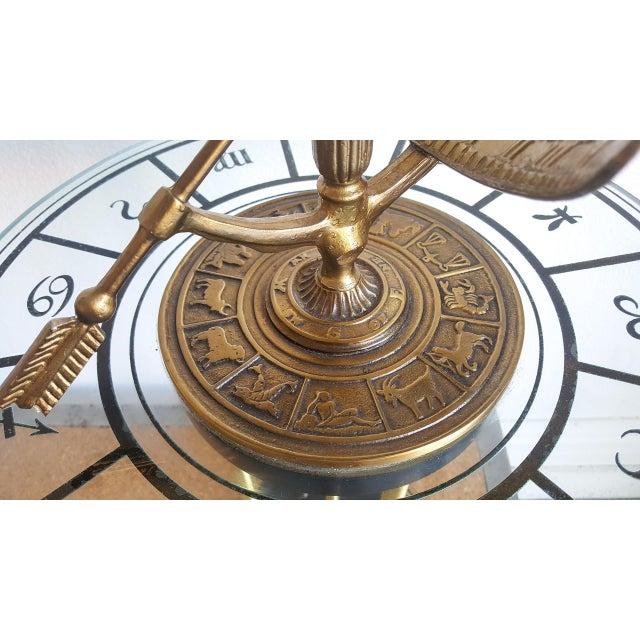 1960s Vintage Brass Armillary Astrological Floor Lamp - Image 4 of 6