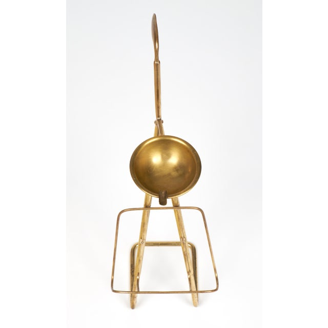 French Mid-Century Brass Ashtray Magazine Stand For Sale - Image 9 of 9