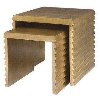 Contemporary Bernhardt Jet Set Nesting Tables - 2 Pieces For Sale
