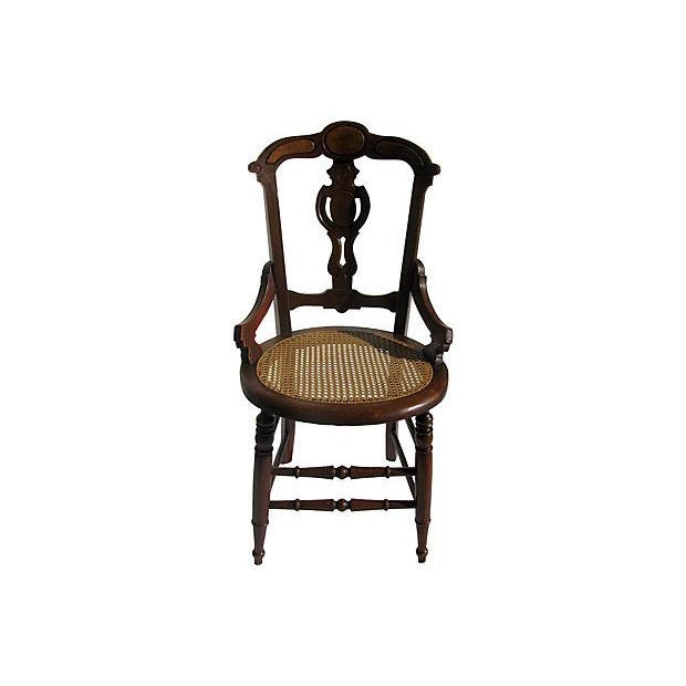 French Art Nouveau Style Chairs W/Cane Seats - S/4 - Image 2 of 7