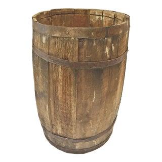 Vintage Rustic Wood Nail Keg For Sale
