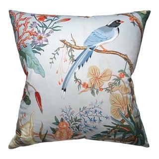 Scalamandre Cinque Terra Pillow, Blue For Sale
