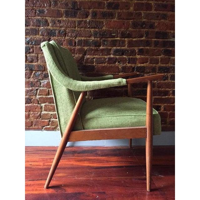 Mid-Century Danish Modern Oak Accent Chair - Image 4 of 5