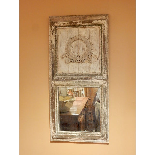 19th Century Rustic French Provincial Trumeau For Sale - Image 5 of 6
