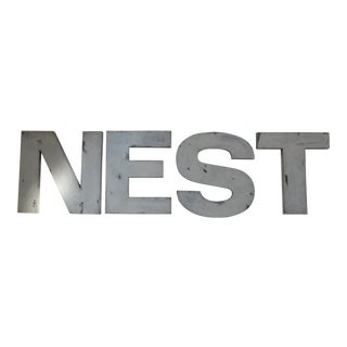 """""""NEST"""" French Advertising Type Letters For Sale"""