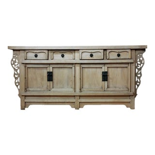 Asian Antique Bleached Wood Sideboard