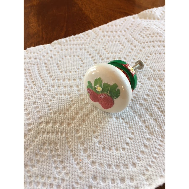 """Hand Painted and decoupage knobs add a decorative touch to furniture or cabinets. 1.25"""" hardwood knobs are painted with..."""