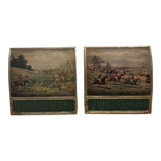 Fox Hunt Borghese Bookends - a Pair For Sale