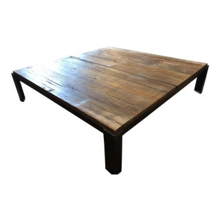 Cisco Brothers Reclaimed Metal & Wood Coffee Table