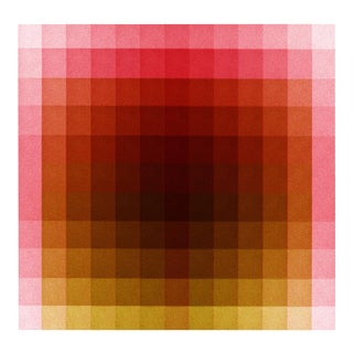 """""""Color Space Series 37: Hot Pink, Acid Green"""" Print by Jessica Poundstone 26""""x26"""" For Sale"""