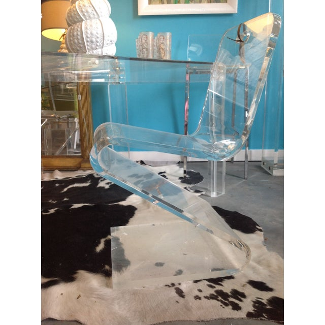 Vintage Lucite Z Chair - Image 4 of 6