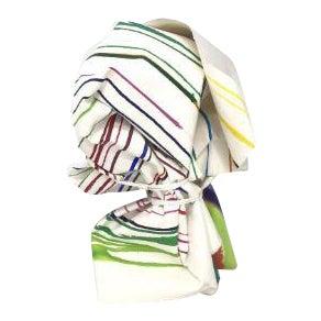"""Vintage Mid-Century Groboski """"Stripes"""" Paper Sculpture & Lucite Case - 2 Pieces For Sale"""