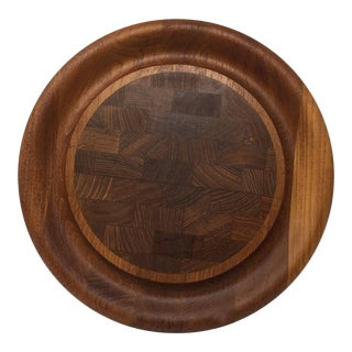 Dansk Round Wooden Cutting Board For Sale