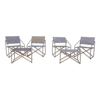 Vintage Mid-Century Brown Jordan Nomad Collection Outdoor Chairs & Ottomans - 6 Piece Set For Sale